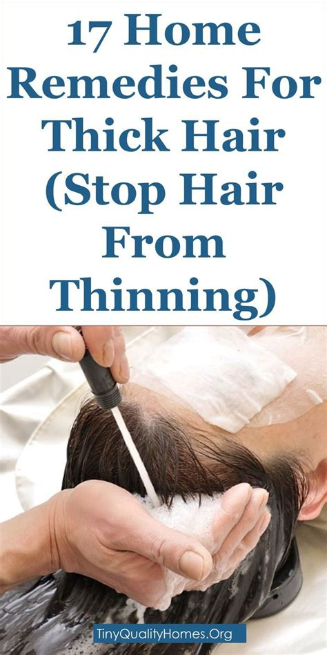 home remedies  thick hair stop hair  thinning