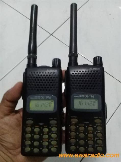 Ht Handy Talky Alinco Dj W35 Uhf Low Band Grosir Jejualan Produ dijual alinco dj196 vhf tx rx normal belklip patah