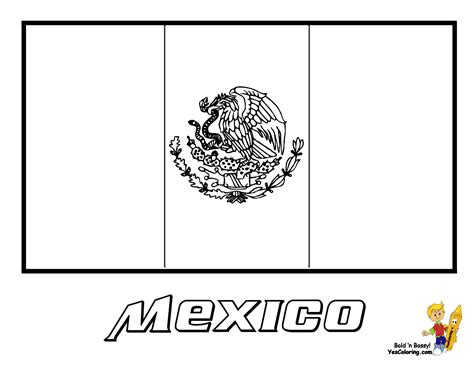mexican flag coloring page flags of countries coloring pages and print for free