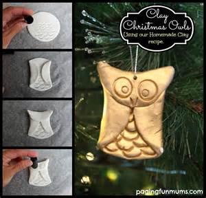 Clay christmas owls