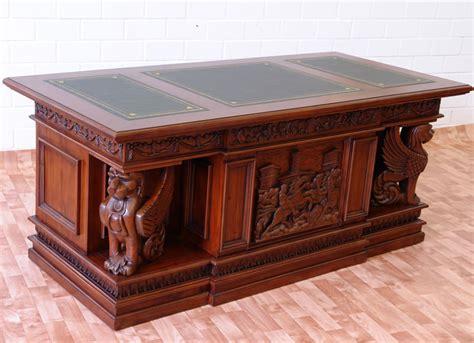 bureau napoleon bureau de style napol 233 on en acajou massif meubles de