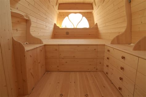Kids Platform Bed Plans - amazing diy van conversion even boasts a wood burning stove and chimney inhabitat green