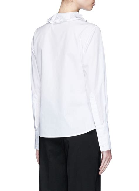 Ruffle Collar Shirt ruffle collar shirt www imgkid the image kid has it