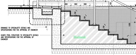 swimming pool detail section swimming pool technical drawing