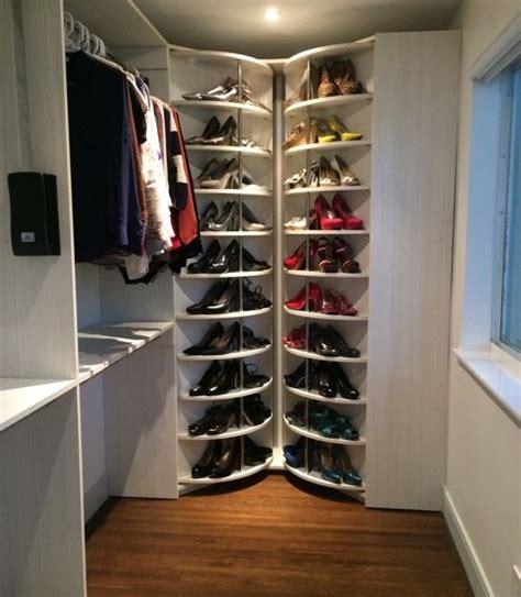 Rotating Closet Storage by Shoe Rack Closet System The Revolving Closet Organizer