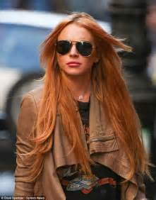 Lindsay Lohan Gets Fresh Extensions In Rehab by Lindsay Lohan Wears Thigh High Leather With