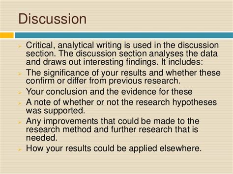 writing a discussion section of a research paper writing the discussion section of a psychology research