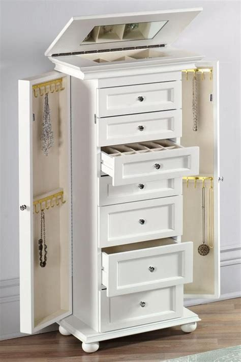 Design For Jewelry Armoire With Lock Ideas Jewelry Armoire Cabinet Memsaheb Net