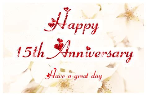 Happy 15th Wedding Anniversary ecards   Greetingshare.com