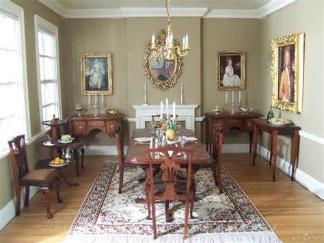 dolls house rooms georgian dining room from a doll house doll house inspiration pin