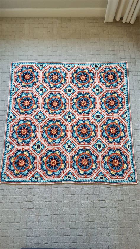 pattern persian tile 16 best persian tile crochet blanket pattern images on