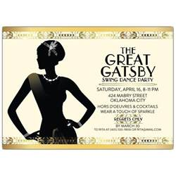 Gatsby Flapper Girl Party Invitations Paperstyle