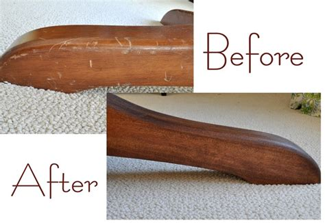 How To Restain Wood Furniture by How To Restain A Wood Table Top Centsational