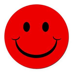 Red smiley face round car magnet by ideadesigns