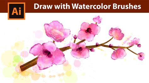 illustrator tutorial watercolor effect adobe illustrator watercolor drawing tutorial pink