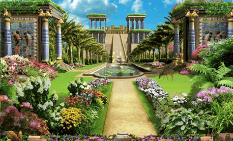 Gardens Of The Ancients by Hanging Gardens Of Babylon Did This Ancient Of The