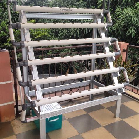 Jual Kit Hidroponik Bandung jual kit hidroponik nft dft 60 lubang rangka baja ringan