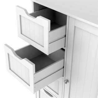 yaheetech wooden bathroom floor cabinet side storage