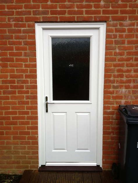 Backdoor Or Back Door by White Composite Back Door Dorking Glass