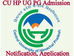 Cu Mba Admission by Cu Himachal Pg Admissions Application 2018 Ug Notification
