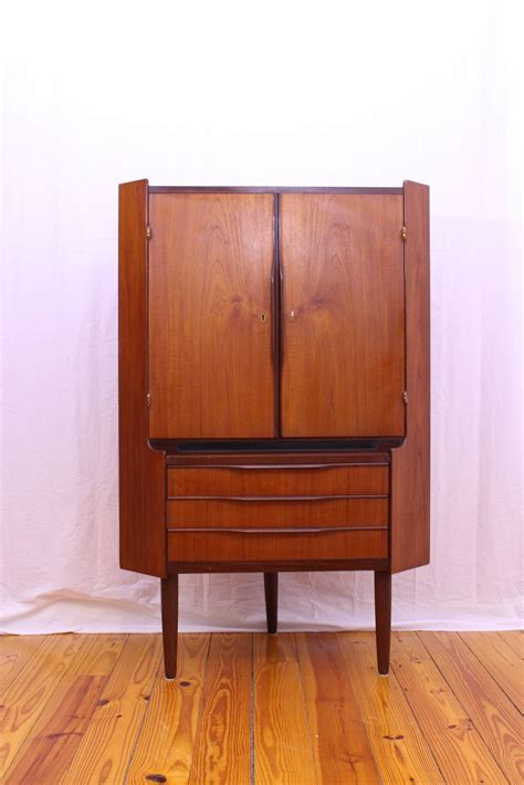 mid century modern corner cabinet mid century modern teak corner cabinet at 1stdibs