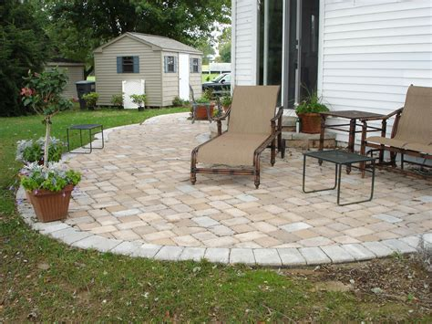 Paver Patios Cost Concrete Paver Patio Designs Installation Cost Great Ideas Furniture Interlocking Stones For