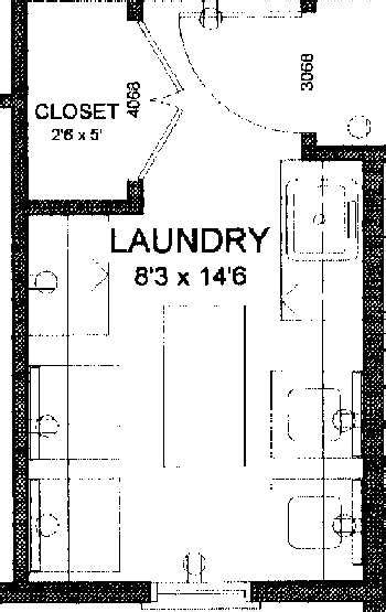 layout of a laundry laundry room layout