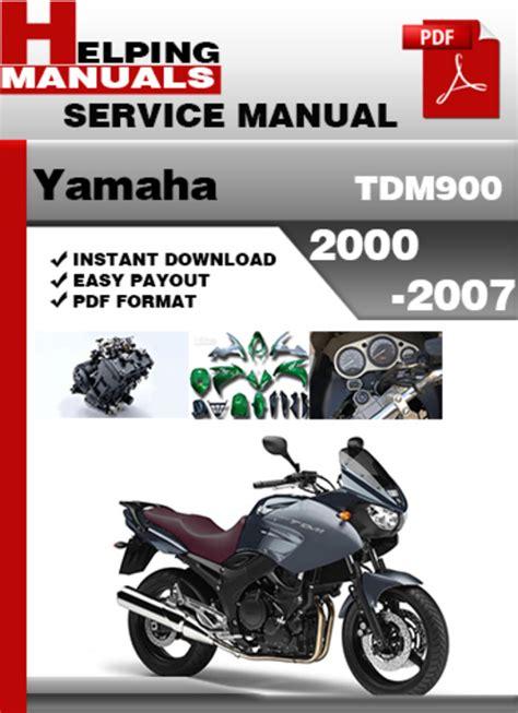 Yamaha Tdm900 2000 2007 Service Repair Manual Download