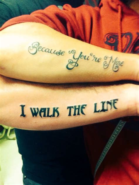 tattoos that couples get of johnny quot because you re mine i walk