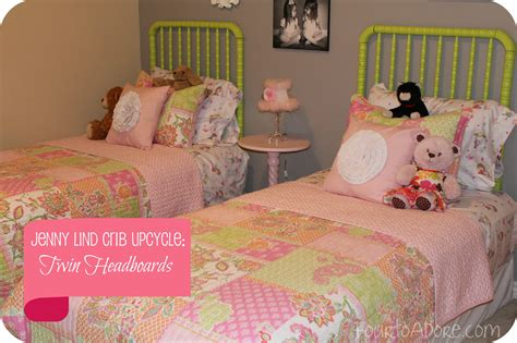 jenny lind headboard jenny lind crib upcycle twin headboards four to adore