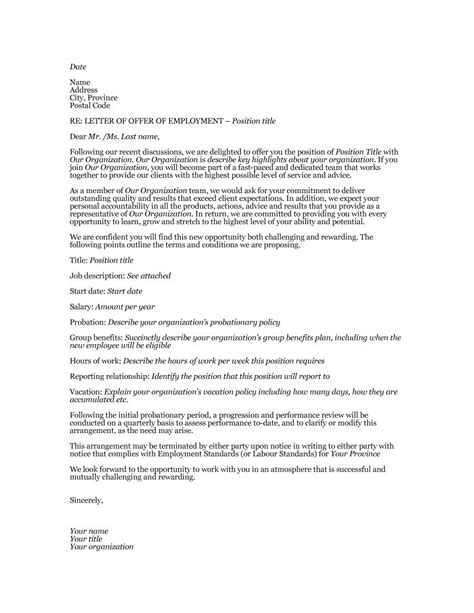 Offer Letter Vacation Time 44 Fantastic Offer Letter Templates Employment Counter Offer