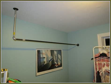 Clothes Rod Hanging From Ceiling clothes rod hanging from ceiling sweet home