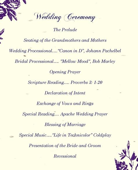 Wedding Ceremony Exles by 28 Best Wedding Ceremony Script Other Template