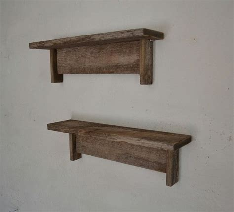 woodworking shelf reclaimed gray wood shelves rustic pair 18 wide 4