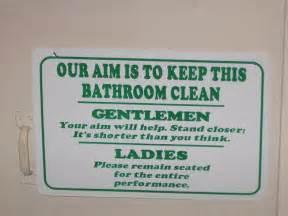 Clean Bathroom Jokes Signs Signs