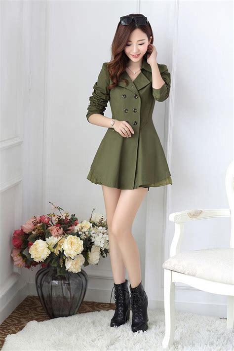 blazer wanita korea armygreen korean blazer
