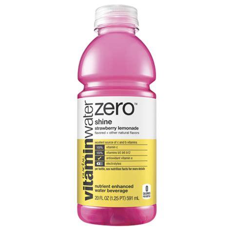 Vitamin Watter vitamin water zero shine strawberry lemonade 20 oz bottles