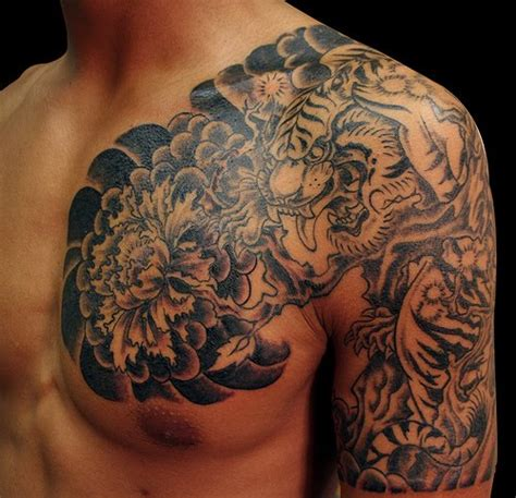 tiger back tattoo designs tribal tiger tattoosanimal tattooanimal