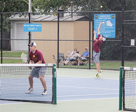 Minot Garage Sale Weekend by One Point For Magi Tennis In Home Robin News