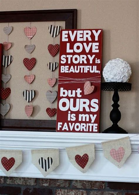Valentine Home Decor | valentine mantel decor ideas