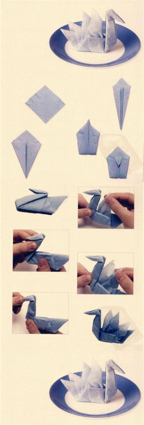 Simple Paper Folding Techniques - papierservietten falten anleitung festliche tischedeko