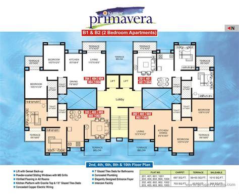 layout of marketplace mall kumar primavera mundhwa pune apartment flat project