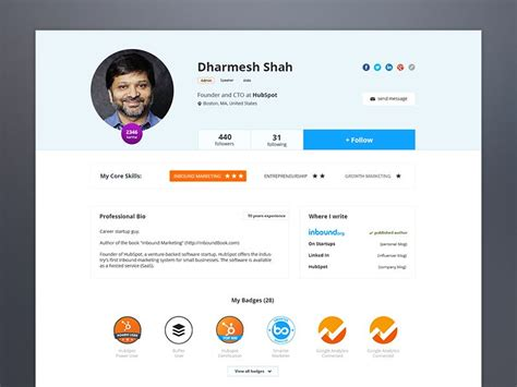 inbound org new profile page by ciprian gavriliu mobile