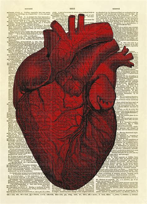 How To Buy Vintage Furniture by Human Heart Dictionary Art Print No 0008 On Storenvy