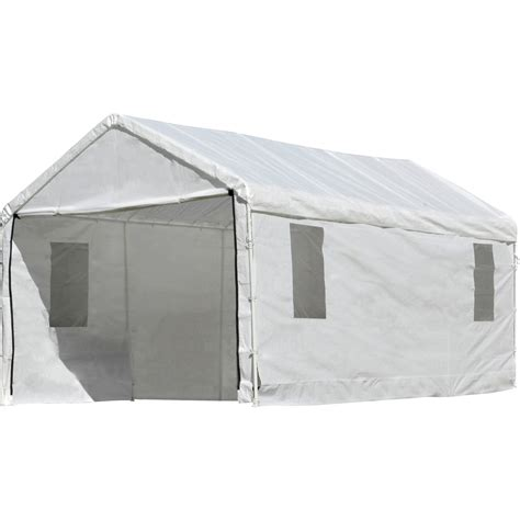 tarp awning shelterlogic outdoor canopy and enclosure with windows