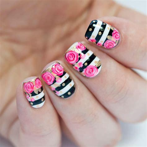 imagenes de uñas pintadas de blanco 40 incre 237 bles dise 241 os en blanco y negro para pintar tus u 241 as