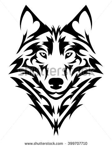 Wolf Tattoo Stock Images Royalty Free Images Vectors Black Wolf Designs