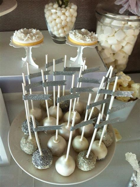 white silver wedding celebrate dessert tables wedding 25th wedding