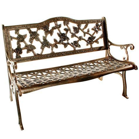 outdoor benches home depot oakland living english rose patio bench 6008 ab the home depot
