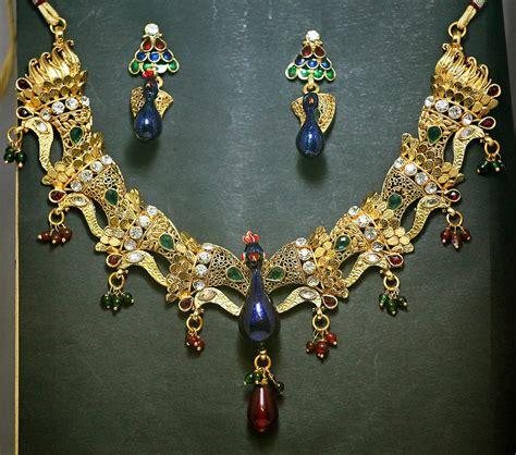 mela set mela peacock necklace and earring set shopping